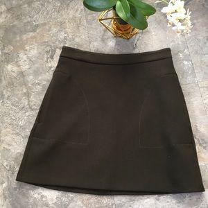 Quality deep green mini skirt